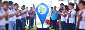The local government unit of La Trinidad headed by Mayor Romeo Salda and Hedcor representatives unveil the geo tag where the Bineng Combination Hydro will stand.