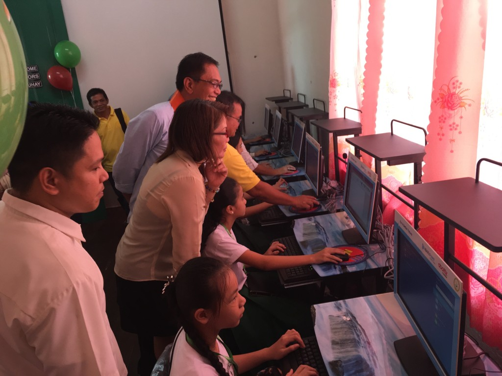 Students of one of AboitizPower's school beneficiaries now have access to a wealth of information through their brand new computers.