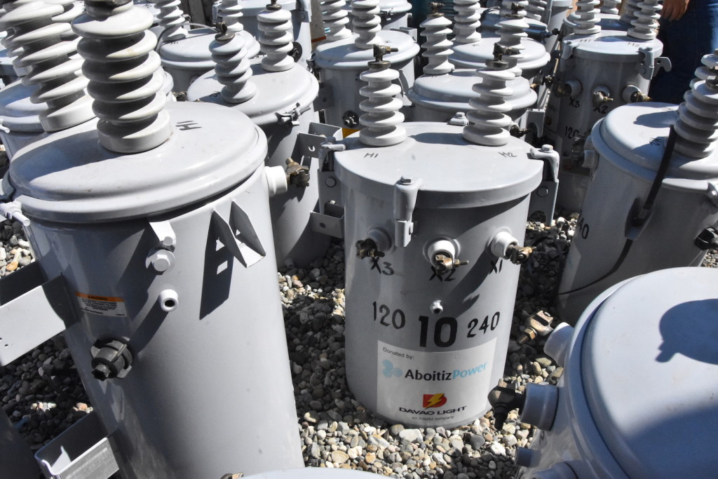 Distribution transformers donated by AboitizPower to Lanao del Sur Electric Cooperative, Inc. (LASURECO).