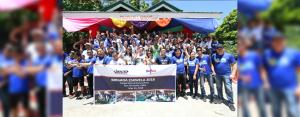 BAYANIHAN. Close to 90 VECO Kaibigans helped make Sangat Elementary School in San Fernando, Cebu a better place during the Brigada Eskwela last May 26, 2018.
