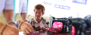 """BLESSED. Catalina """"Taling"""" Gabutero, an 81-year-old tailor from Barangay Ermita in Cebu City, draws happiness from sewing and she believes God continues to give her strength to do what she loves."""