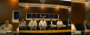 IN PHOTO: (L-R) Lyrna Esmeralda-Hewitt, Head of Commercial, AC Energy; Patrice Clausse, Chief Operating Advisor, AC Energy; Robert McGregor, Chief Investment Officer, AboitizPower; Eric T. Francia, President and CEO, AC Energy; Maria Corazon G. Dizon, Chief Finance Officer, AC Energy; Louis P. Baui, VP for Finance, AC Energy
