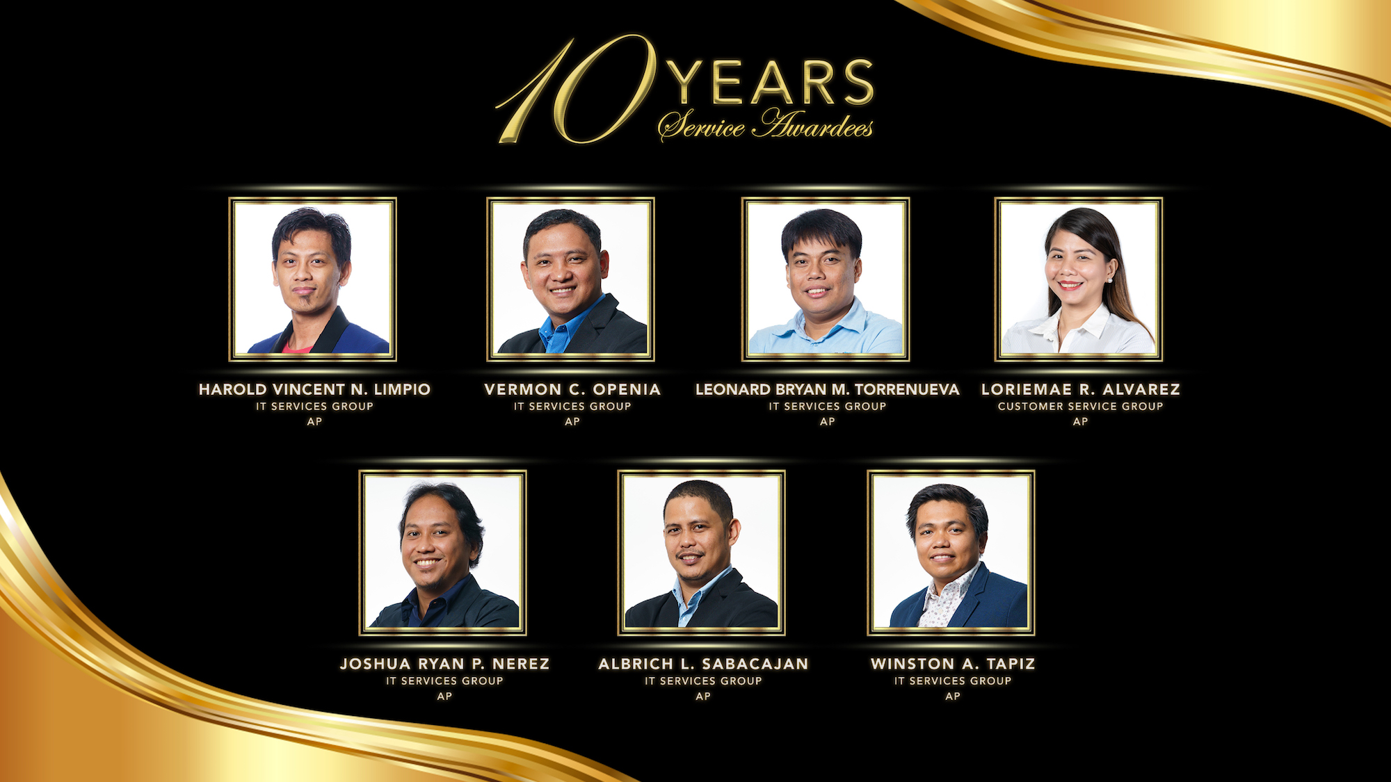 EIA Deck 10 years awardee 2