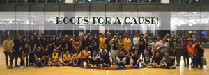 ALL SMILES. The players and various team leaders and members from AEV and AboitizLand smiled for the camera as soon as the game clock expired.