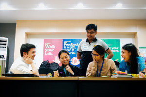 Partners from Pilmico Animal Nutrition Corporation's Central Maintenance Department in Tarlac take in an ideation workshop using design thinking.