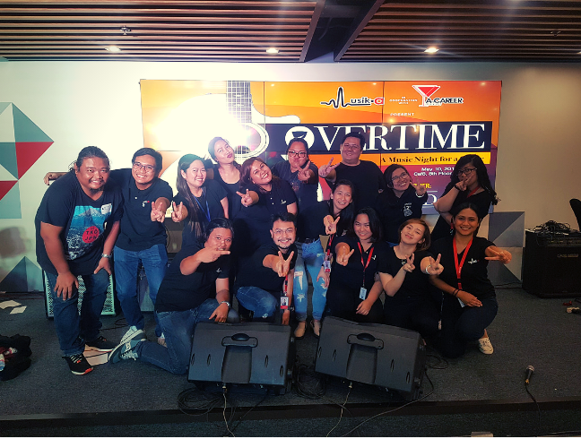 Musik-a, together with A-Career Mixers strike a pose after the successful event.