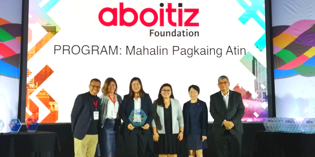 """Aboitiz Foundation together with Pilmico, recognized as a Finalist in the Enterprise Development Category of the LCF Guild Awards 2019 for its """"Mahalin Pagkaing Atin"""" project."""