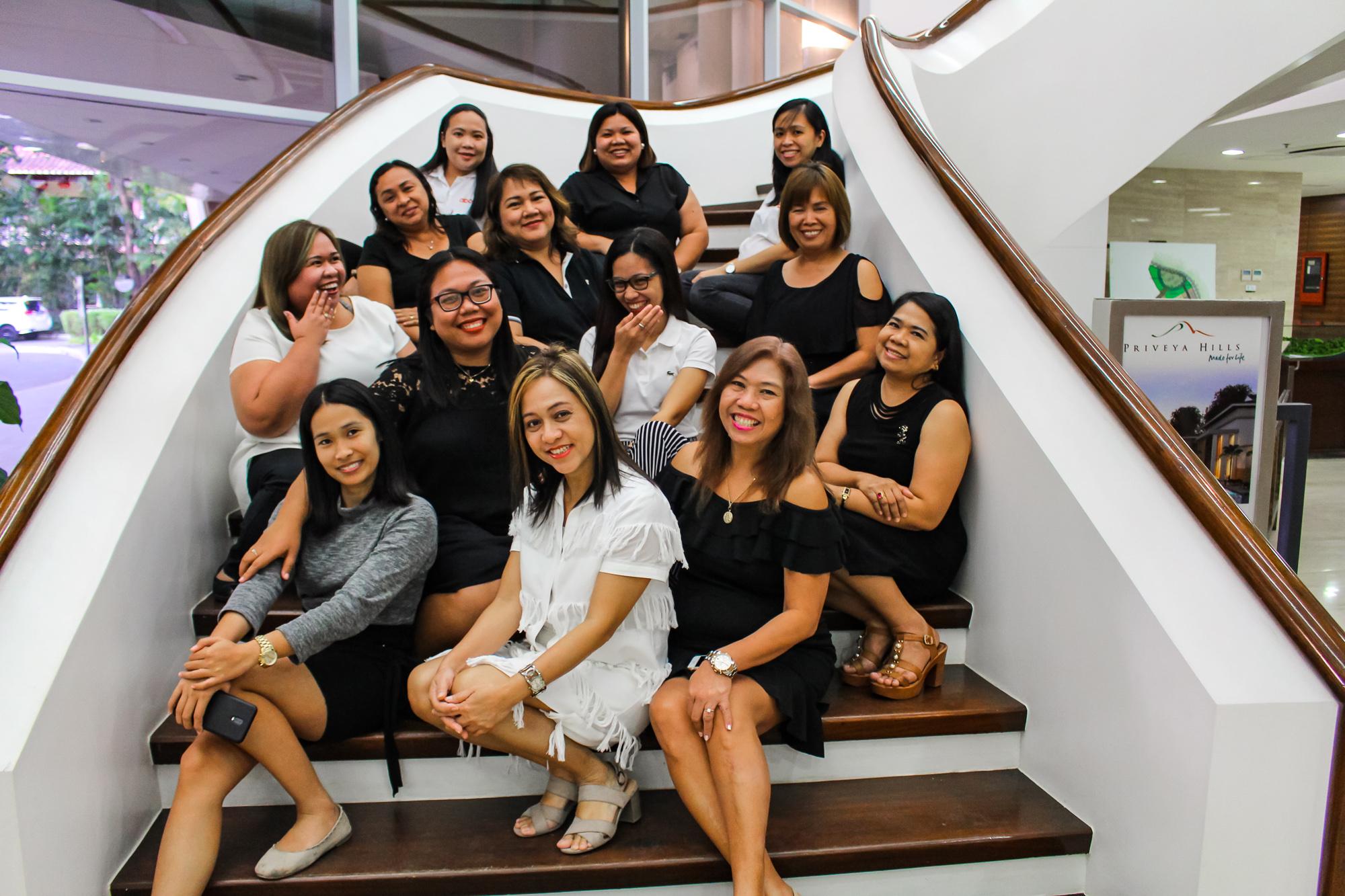 stairs women
