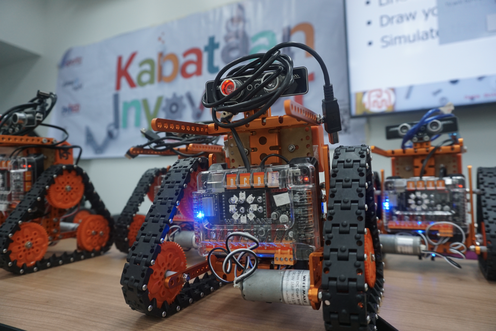 One of the many robots featured at Kabataan Inyovator in Davao City