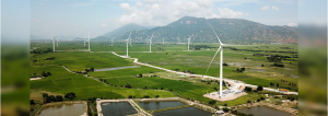 The Dam Nai Wind facility, located in Ninh Thuan Province, Southern Vietnam, is among the first successful wind power projects in the country.