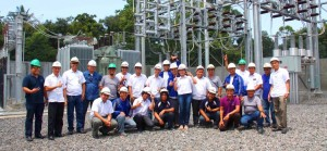 NEW SUBSTATION. Davao Light EVP and COO, Arturo Milan takes a tour around the newly inaugurated Tugbok substation together with some company executives and guests from the National Grid Corporation of the Philippines.