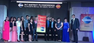 CLUB ACHIEVEMENT. Members of the Aboitiz Toastmasters Club go onstage at the 34th District 75 Conference in Puerto Princesa City to accept various awards on behalf of the club.