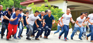 READY, SET, GO! AboitizPower team members bested one another in the various safety challenges that tested their full range of safety knowledge and capability to handle accidents.