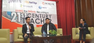 TEACHER-INNOVATORS. Pasig City public school teacher Michael D. Morella shared how Project TeACH equipped him with skills which integrate technology in the learning environment, and weaving it into authentic, project-based learning (PBL) activities.
