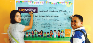 NATIONWIDE CELEBRATION. CitySavings paid tribute to public school teachers in 84 branches all over the country.
