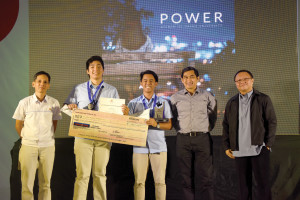 """'POWER' WINS. Ateneo de Davao University's (AdDU) video entry titled 'Power' was the unanimous winner in Davao Light's video-making contest this year with the theme """"Electricity and its impact to the millennials"""". (L-R): Davao Light Reputation Enhancement Manager Fermin Edillon, AdDU students Lyen Yap and Diego Borromeo, Davao Light Assistant Vice President for Reputation Enhancement Rossano Luga, and Commission on Higher Education Education Supervisor Dr. Cesar A. Adegue."""
