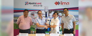WEATHER ON SITE. LiMa Technology Center and barangays within four kilometers can access localized and real-time weather reports. From left: AboitizLand COO Patrick Reyes, AFA, WeatherPhilippines Gen. Manager Dave Valeriano, and Lipa City Administrator Atty. Leo Latido.