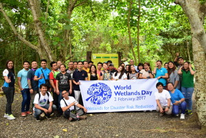 Participants from Davao Light joined DENR-XI in celebrating World Wetlands Day at the Aboitiz Cleanergy Park in Punta Dumalag, Davao City.
