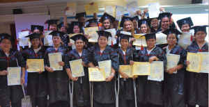DAVAO BAKERS RECEIVE THEIR NC II CERTIFICATION. A group of 25 bakers earn their National Certificate (NC) II during a graduation ceremony.