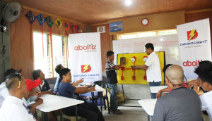 NEW BATCH OF PROJECT B.E.S.T. TRAINEES. Davao Light's Project B.E.S.T started another batch of trainees on Feb. 6 for the residents of Brgy. Maa, Davao City.