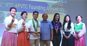 Davao Light receives the Plaque of Recognition from TESDA Regional Training Center - KorPhil.