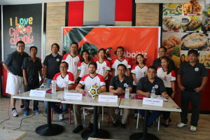 ALL SET. Organizers of the 19th Aboitiz Football Cup pose for a photo op during the media briefing held at The Outlets at Pueblo Verde on August 30.  The Aboitiz Group,  hrough the AboitizLand and Aboitiz Foundation, recognizes the importance of sports in the holistic development of our youth hence the advocacy for sports development.