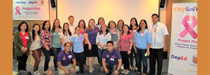 TEACHER WELFARE:  A group of selected public school teachers from different divisions of Central Visayas together with CitySavings Reputation Management Head Paula Viegelmann – Ruelan (center in violet polo shirt) and Central Visayas Regional Business Head Ryan Bascug (right most in white uniform) during the Project Pink forum on October 20.