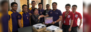 TECHNOLOGY FOR THE GREATER GOOD.  Schools Division Superintendent Dr. Loida Nidea, CESO (3rd from left) receives the donated laptops and LCD projectors from CitySavings Regional Business Head for Region 5 Arnulfo Santiago (3rd from right). With them are ALS facilitators and City Savings Bankers from Sorsogon branch.