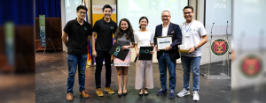 RETURN ON INVESTMENT 2017:  CitySavings Chairman of the Board Eugene Acevedo (2nd from right) during the awarding and giving of Certificate of Appreciation on his talk about Financial Inclusion in the Digital World together with UP JFA CEO Lowell Tiu, (2nd from left) and other UP JFA officers at the University of the Philippines Diliman, Quezon City last November 11.