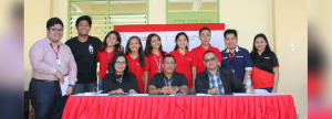 The proponents of the Project LEGO together with the Aboitiz Foundation Education Team. (First Row L-R) Aboitiz Foundation Education Program Manager Jowelle Ann Cruz, Subangdaku School Principal, Rene M. Petancio, and Division School Office Administrative Officer IV of Mandaue City Dr. Edgar Espina.