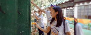 A FRESH START THIS JUNE:  Employee volunteers from CitySavings Mandaue Branch headed to Lapu-Lapu City Central Elementary School in Cebu last May 28 to help repaint classroom exterior walls.