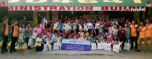 A BIG HEART FOR EDUCATION:  The warm smiles from New Society National High School educators after receiving 137 teaching kits last June 08 from City Savings Bank spearheaded by its General Santos Branch.