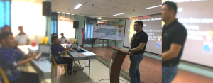 BEST PRACTICES SHARING. Engr. Cirilo Nanual, assistant vice president for Visayas operations of the AboitizPower Oil Business Unit, shares about the emergency response practices of East Asia Utilities Corp. (EAUC) during a disaster education training for teachers in Lapu-Lapu City last April.