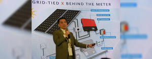 AboitizPower Distributed Energy Inc. (APX) General Manager Jose Rafael Mendoza shares facts and insights about solar rooftop technology with more than 300 Cebu-based enterprises during the Cebu Business Month Innovation Summit held at the Waterfront Cebu City Hotel & Casino from June 19 to 20. (Photo by Ruel Rosillo)