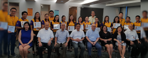 CHEERS TO THE GRADUATES: Employee Development Program (EDP) a.k.a Talent Factory Batch 3 graduates from the branches and support units with members of the management team led by Senior Adviser to the Board Catalino Abacan (seated, fourth from left), President and CEO Eugene Acevedo (seated, fifth from left), and EVP and COO Levi Villanueva (seated, third from left).