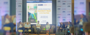 AboitizPower, represented by COO Emmanuel V. Rubio (rightmost), was invited as the lone private sector panelist at the Energy Policy and Development Program (EPDP) forum on Electricity Policy in the Philippines: Generation, Institutions, and Prices, joining Sen. Sherwin Gatchalian (Senate Committee on Energy), Usec. Jesus Posadas (Department of Energy), Usec. Adoracion Navarro (National Economic Development Authority), Dr. Raul Fabella (EPDP), and Dr. James Roumasset (EPDP).
