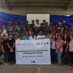 The participants for Community-Based DRRM training