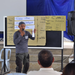 One of the participant presented to the group  the identified capacity of their community