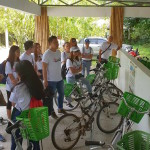 The participants were guided around the Gawad Kalinga Enchanted Farm by the young entrepreneurs who live and study in the village.
