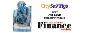 CitySavings Best CSR Bank PH 2018 (AE cover photo)