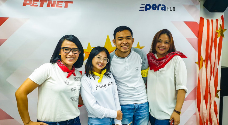 FROM LEFT: PETNET Learning and Development Manager Giselle Amad, Associates Danice Verceles and Armel Abarracoso, and Officer Melcy Capitulo.