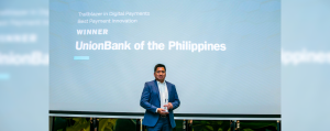 EON Banking Group Head Paolo Baltao receives the Best Payment Innovation award for EON by UnionBank at the 2019 RBI Asia Trailblazer Awards held in Singapore.