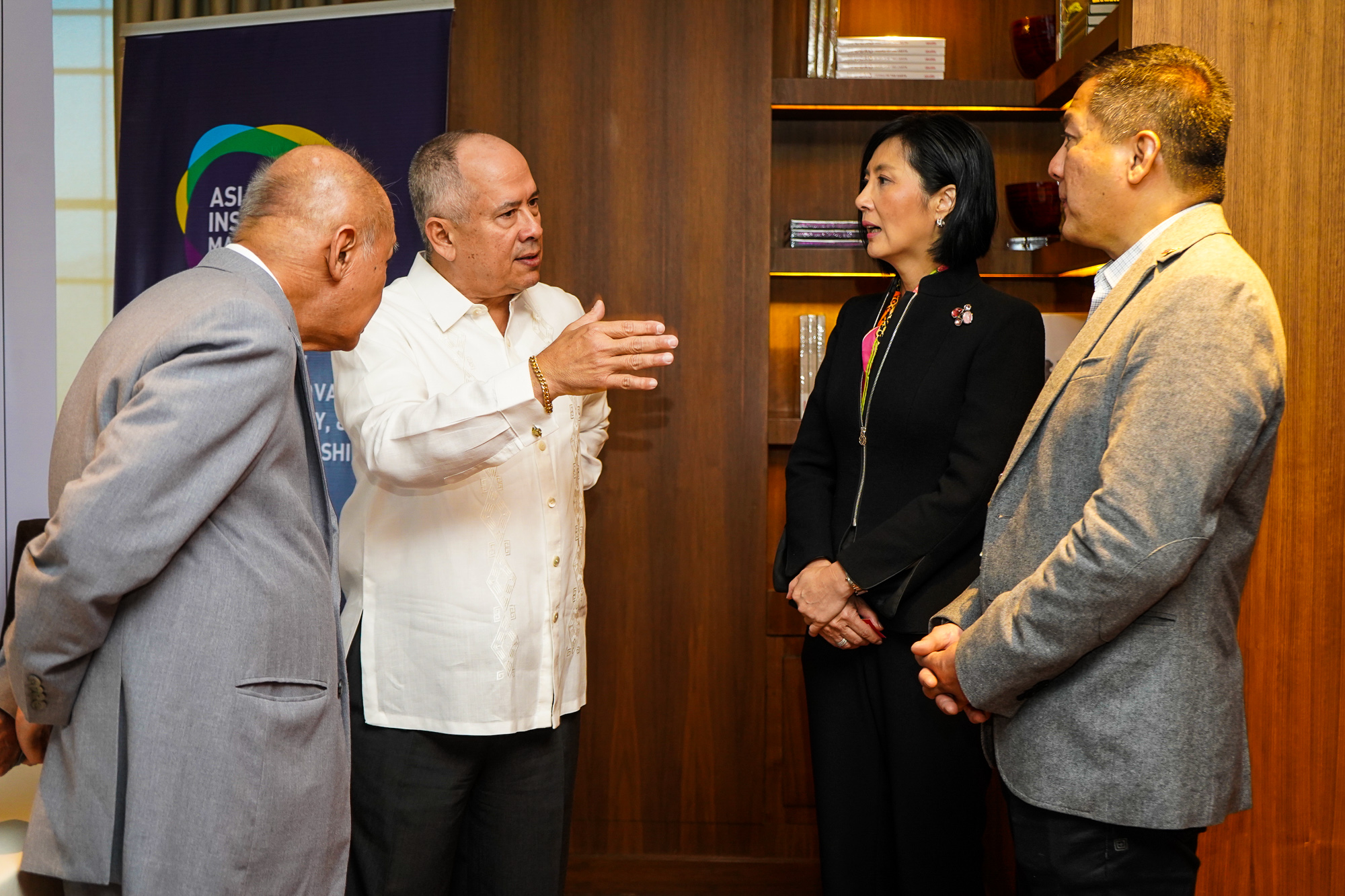 AIM Chairman Peter Garrucho with EIA, Dr. Jikyeong Kang, and AEV Chief External Relations Officer DJ Sta. Ana