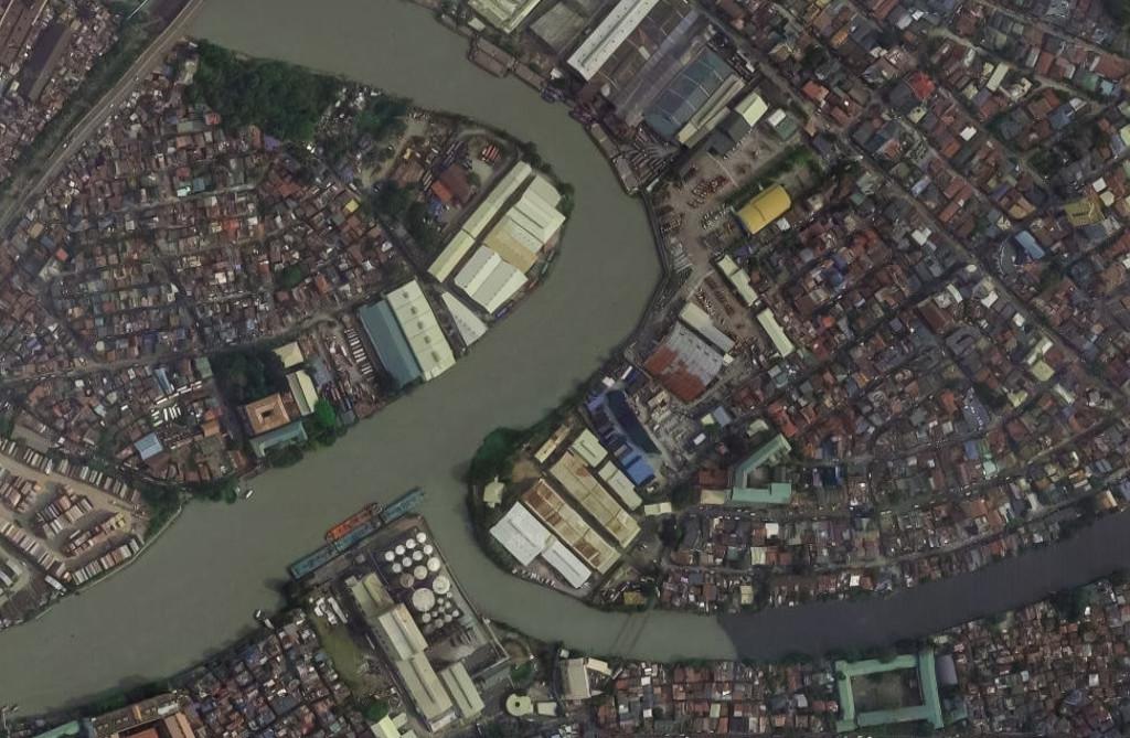San Juan River flows into the larger Pasig River.