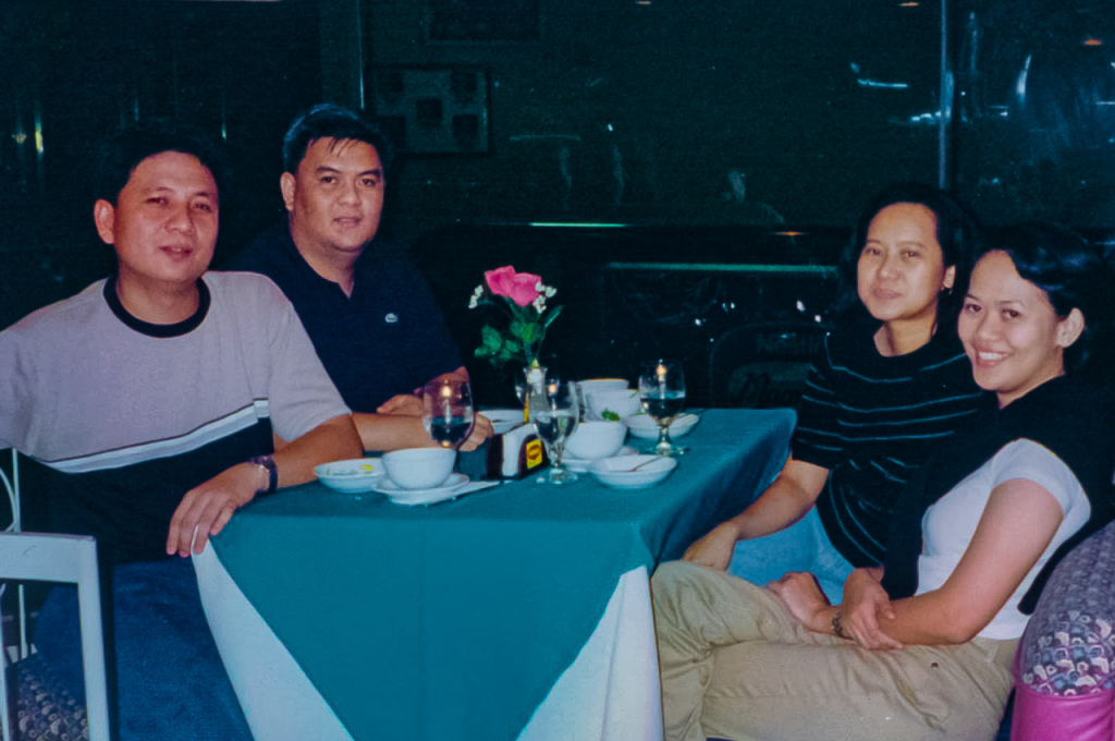 With the ATS finance team leaders (from left) Jun Reyes (credit and collections manager), Edwin Natividad (audit manager), and Amy Vanta (asst. vice president for credit and collection) at the company's 2001 finance conference
