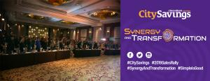 TEAM CITYSAVINGS: CitySavings Sales Rally inspirational speaker, Coach Chot Reyes rallies the team during the bank's Sales Rally last August 4 at Radisson Blu Hotel, Cebu City.