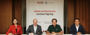 ABOITIZ TAPS BLUEVOYANT. Working toward achieving an information security risk-aware culture, Aboitiz Equity Ventures, Inc. (AEV) has appointed Bluevoyant to be its managed security services provider. Signing the partnership contract were (from left): Arleen V. Asuncion, Bluevoyant Philippines General Manager; Gad Goldstein, Bluevoyant International President; Sabin M. Aboitiz, AEV Chief Operating Officer; and Jojo S. Guingao, AEV Chief Digital Officer.