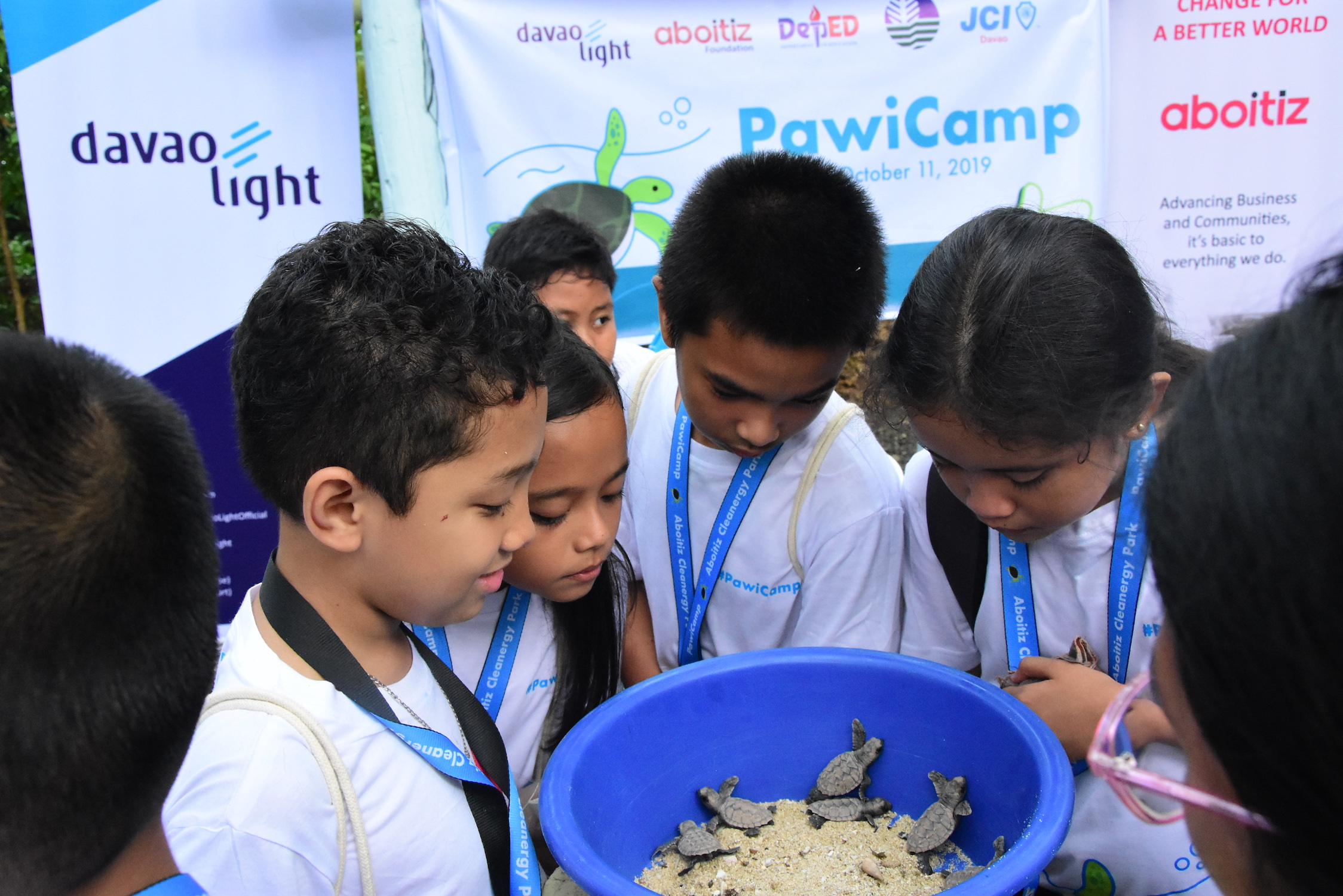 Aboitiz PawiCAMP student-campers witness the release of pawikan hatchlings into the ocean -- a critical milestone and part of the area's rich biodiversity.