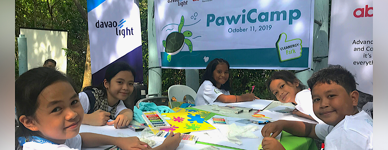 Aboitiz PawiCAMP student-campers beam as they have fun while learning all about the environment and saving the critically endangered pawikan.